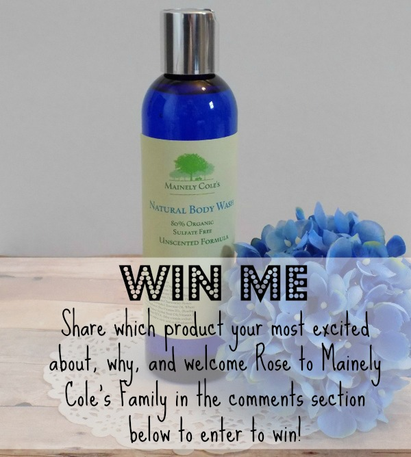 Natural Unscented Body Wash Giveaway