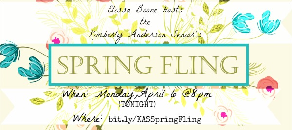 Kimberly Andersons Spring Fling April 6 at 8pm